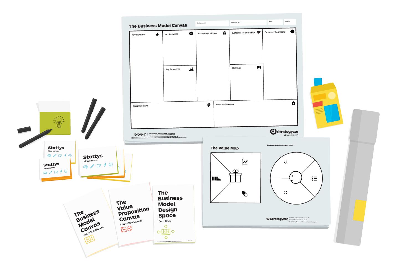 Strategyzer workshop kits  from Stattys.