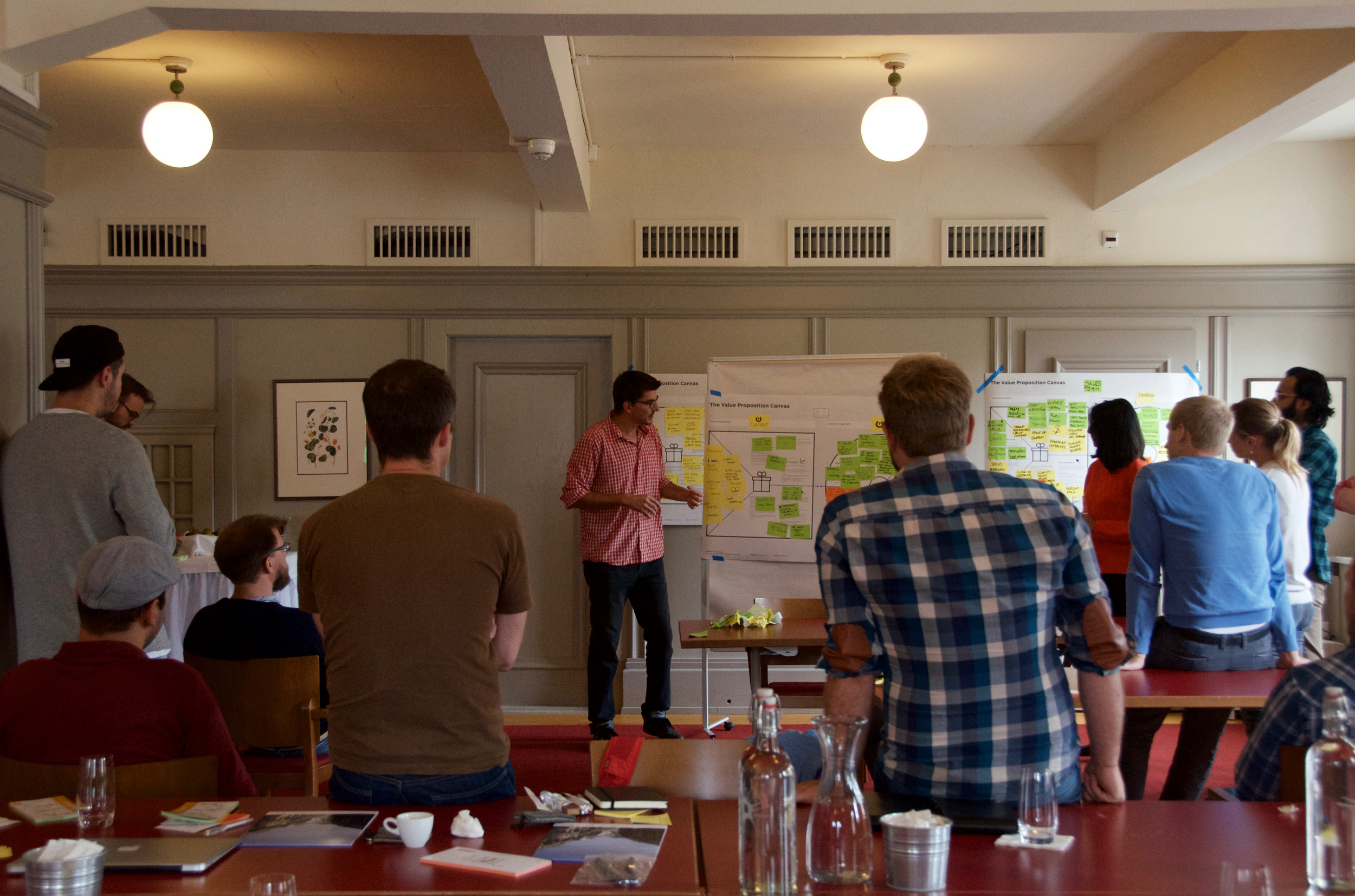 Teams presenting their Value Propositions Canvases on Strategyzer.